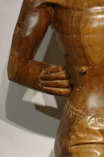 <= 16th century - San Sebastian, walnut with traces of polychromy, Italy,15th century