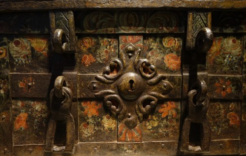 "Curiosities  -  A"" Nuremberg Chest Safe"",Germany 17th century"