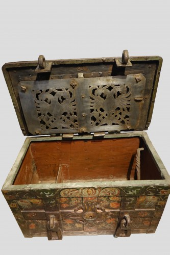 "Antiquités -  A"" Nuremberg Chest Safe"",Germany 17th century"