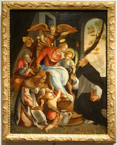 Adoration of a Holy Martyr to the Virgin and the Child - Italian School cir
