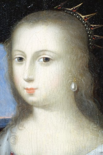 Paintings & Drawings  - Cleopatra diluting the pearl - French school circa 1630