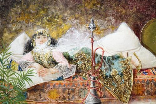 19th century - Orientalist scene, oil on panel A.RIVAS( 1845-1911)