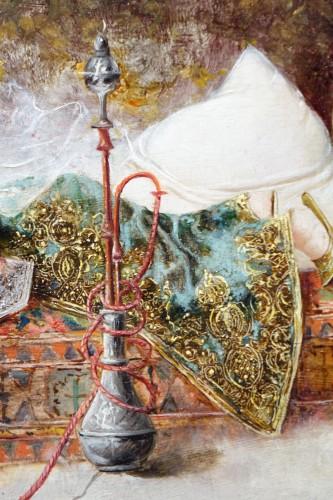 Orientalist scene, oil on panel A.RIVAS( 1845-1911) - Napoléon III