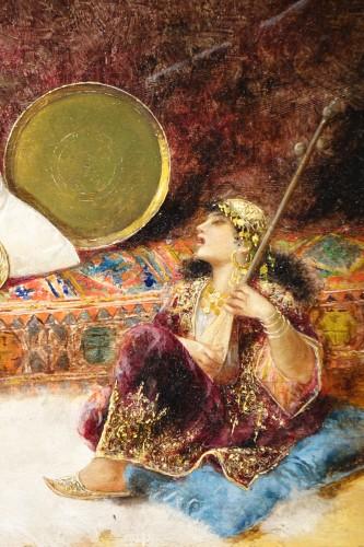 Napoléon III - Orientalist scene, oil on panel A.RIVAS( 1845-1911)