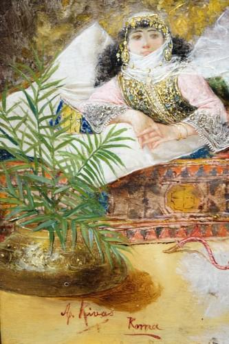 Antiquités - Orientalist scene, oil on panel A.RIVAS( 1845-1911)