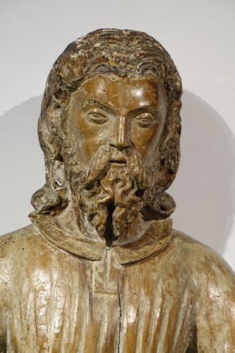 Christ in Glory or Majesty end of the 15th century - Sculpture Style Renaissance