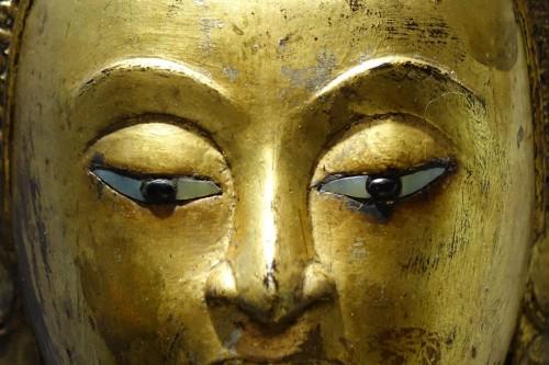 Napoléon III - Large gilt bronze Buddha, Rattanakosin, Thailand, 19th century
