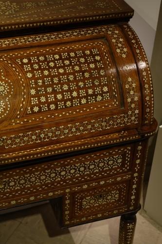 "Cylinder desk in ""certosina"", Italy, Venice, circa 1850 -"
