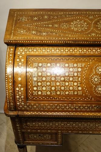 "Cylinder desk in ""certosina"", Italy, Venice, circa 1850 - Louis-Philippe"