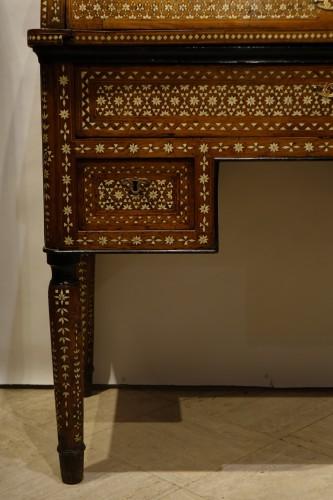 "Louis-Philippe - Cylinder desk in ""certosina"", Italy, Venice, circa 1850"