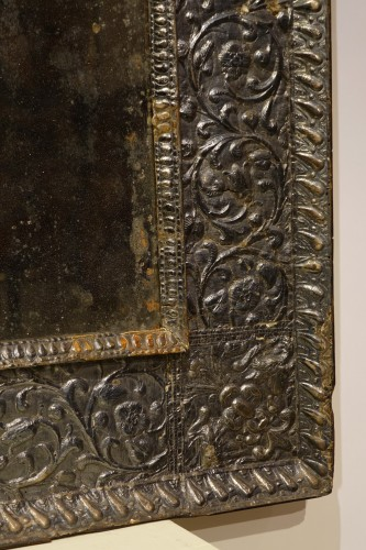 A sculpted wood mirror with a silver sheet applied. Venice,16th century -