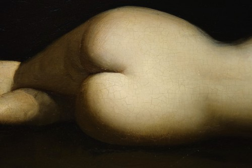 Reclining nude woman.Oil on mahogany signed A.VELY( 1838-1882) - Paintings & Drawings Style Napoléon III