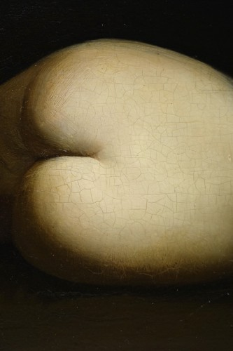 Napoléon III - Reclining nude woman.Oil on mahogany signed A.VELY( 1838-1882)