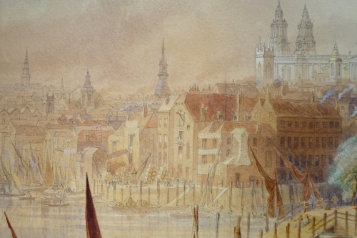Saint Paul's Cathedral from Southwork bridge - F. LLOYDS, dated 1878 - Napoléon III