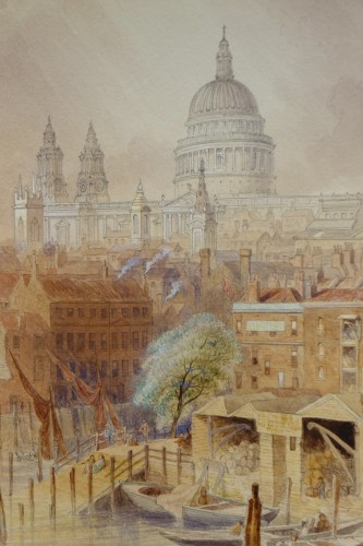 Antiquités - Saint Paul's Cathedral from Southwork bridge - F. LLOYDS, dated 1878