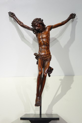 Louis XIII - Christ without his cross, boxwood, France, 17th century.