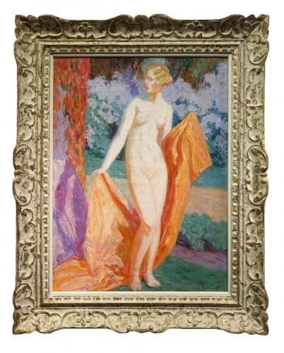 Mrs Guillonnet nude in a garden - ODV Guillonnet, circa 1920
