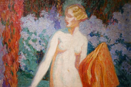 Paintings & Drawings  - Mrs Guillonnet nude in a garden - ODV Guillonnet, circa 1920