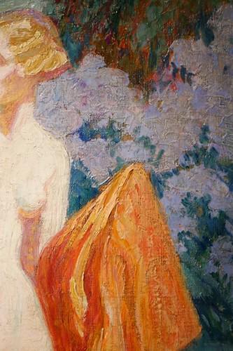 Mrs Guillonnet nude in a garden - ODV Guillonnet, circa 1920 - Art Déco