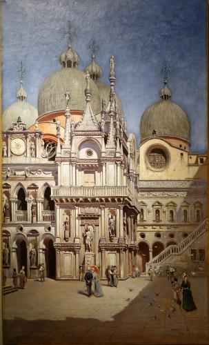 The Doges Palace in Venice- F.W.ODELINCK, 1889