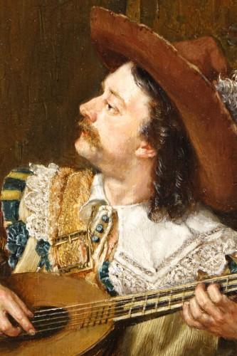Paintings & Drawings  - A gentleman playing the mandolin, Vaclav BROZIK (1851-1901)