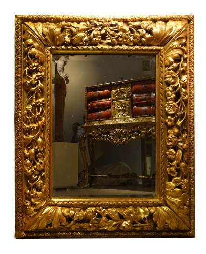 Carved and giltwood mirror, France 18th century