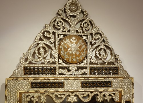Large mirror with mother-of-pearl inlay, Syria, late 19th century - Mirrors, Trumeau Style Art nouveau