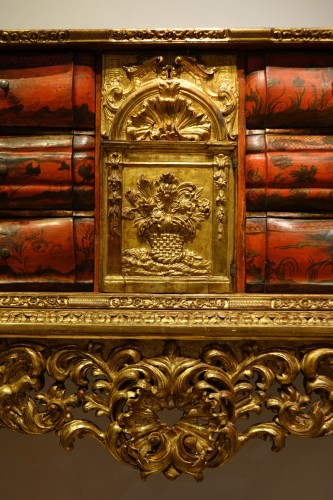 Painted wood and gilded wood cabinet, 18th century Venice - Furniture Style Louis XV