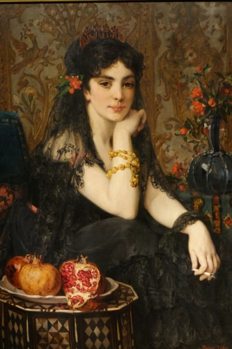The beautiful Andalusian - Paul SAINT-JEAN (1842-1875) - Paintings & Drawings Style Napoléon III