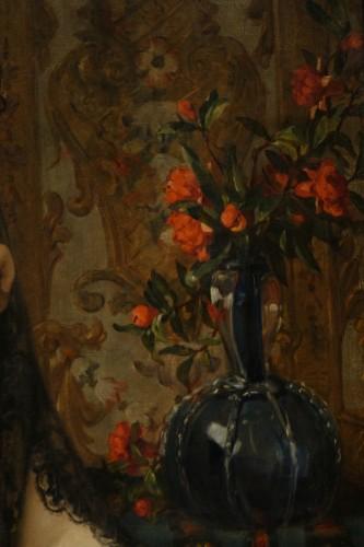 19th century - The beautiful Andalusian - Paul SAINT-JEAN (1842-1875)