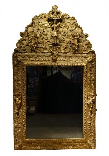 Gilded wood mirror, Italy 18th century