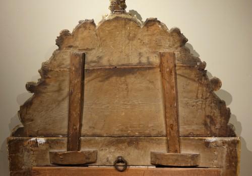 Antiquités - Gilded wood mirror, Italy 18th century