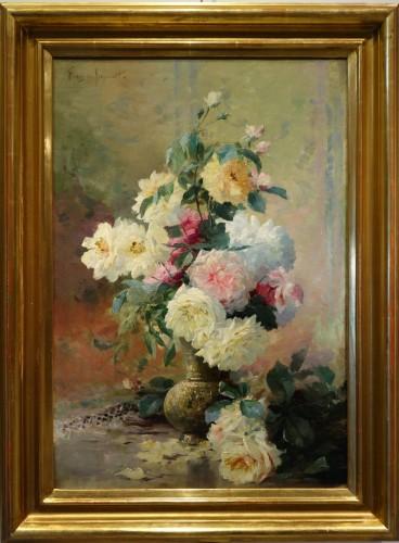 Roses in a vase - FURCY de LAVAULT (1847-1915)