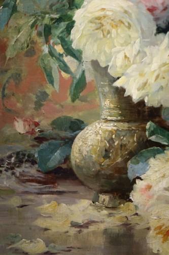 Roses in a vase - FURCY de LAVAULT (1847-1915) - Paintings & Drawings Style Art nouveau