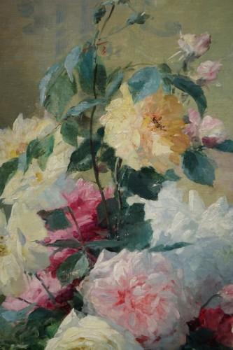 Paintings & Drawings  - Roses in a vase - FURCY de LAVAULT (1847-1915)