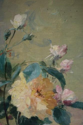 Roses in a vase - FURCY de LAVAULT (1847-1915) -