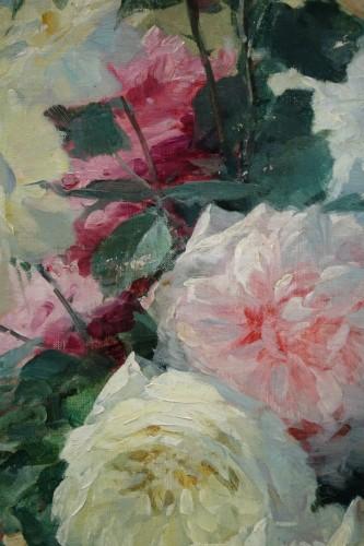 19th century - Roses in a vase - FURCY de LAVAULT (1847-1915)