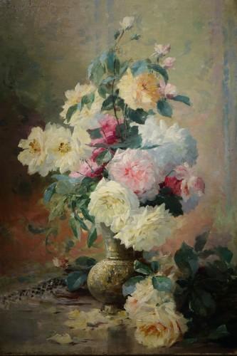 Antiquités - Roses in a vase - FURCY de LAVAULT (1847-1915)