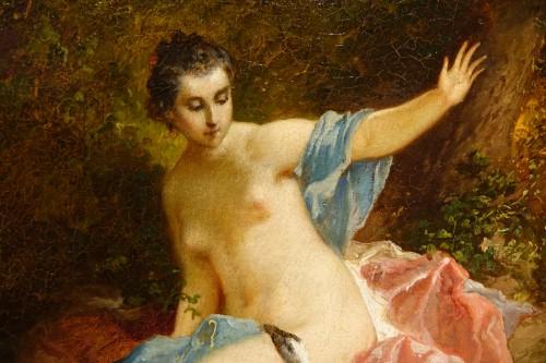 19th century - Leda and the Swan - F. LANFANT de METZ (1814-1892)