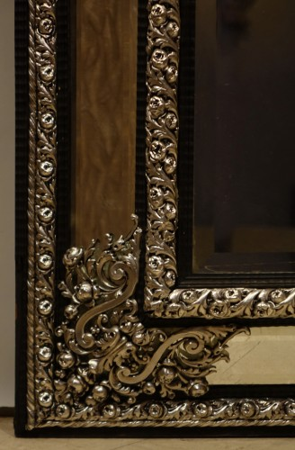 Mirrors, Trumeau  - A large silver plated mirror,Louis XIV style, France, circa 1880