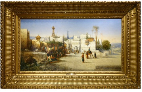 Vue of Cairo-  A.Visconti, circa 1850