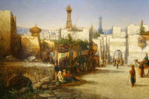 Vue of Cairo-  A.Visconti, circa 1850 - Paintings & Drawings Style Napoléon III
