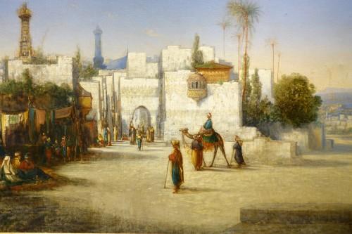 Paintings & Drawings  - Vue of Cairo-  A.Visconti, circa 1850
