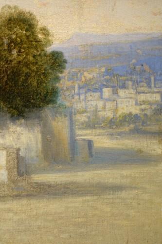 19th century - Vue of Cairo-  A.Visconti, circa 1850