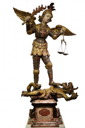 Saint Michael the Archangel vanquishing Satan, Southern Germany or Italy