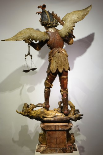 Antiquités - Saint Michael the Archangel vanquishing Satan, Southern Germany or Italy