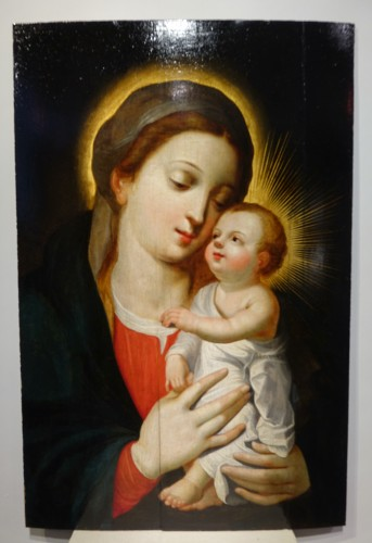 Antiquités -  Virgin and Child, Northern France or Flanders, 17th century