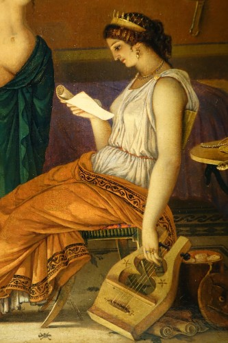 """Paintings & Drawings  - """"Actors in the backstage in ancient Greece"""", att. Lecomte du Noüy"""