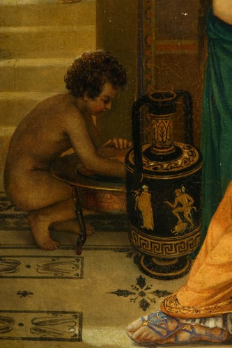 """Actors in the backstage in ancient Greece"", att. Lecomte du Noüy -"
