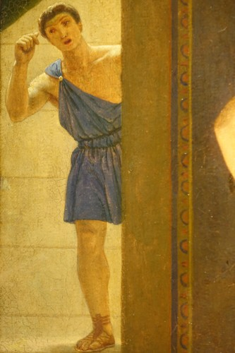 "19th century - ""Actors in the backstage in ancient Greece"", att. Lecomte du Noüy"